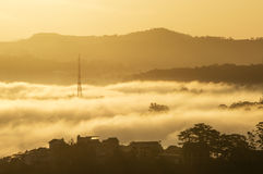 Fog in the Da Lat city Royalty Free Stock Photos