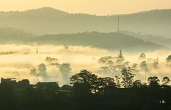 Fog in the Da Lat city Royalty Free Stock Photography