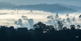 Fog in the Da Lat city Royalty Free Stock Image
