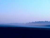 Fog. Dawn. Royalty Free Stock Photos