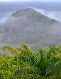 Fog at dawn in the Valley of Vinales Royalty Free Stock Image