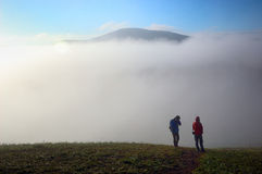 Fog in dream. The heavy fog in the moring at the glassland Royalty Free Stock Photography