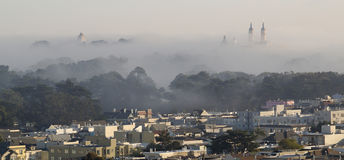 Fog Drifts Through San Francisco Royalty Free Stock Images