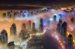 Fog in dubai. Capture when it was on its peak level Stock Images