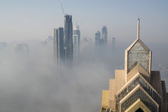 Fog in Dubai Stock Image