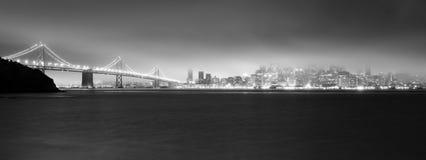 Fog Engulfs San Francisco Bay Downtown City Skyline Stock Images