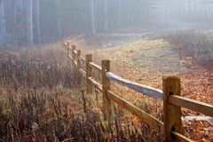 Fog and Fence Royalty Free Stock Photos