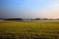 Fog on the field Stock Photography