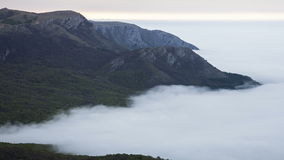 Fog in the foothills. stock footage