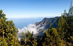 Fog forms on Kalalau valley Kauai royalty free stock photos
