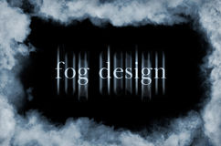 Fog on black Royalty Free Stock Images