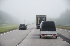 Fog on the freeway Stock Photography