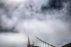 Fog with Golden Gate Bridge Royalty Free Stock Image