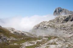 The Fog Growing Around Pena Remona Royalty Free Stock Photo