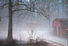 Fog after a hail storm Stock Photography