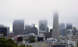 Fog Hangs Heavy over Office Buildings Downtown San Francisco CA Stock Images