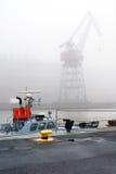 Fog In Harbor Stock Image