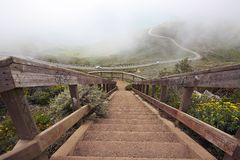 Fog in the hawk hill Royalty Free Stock Photography