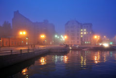 Fog in Helsinki Royalty Free Stock Photo