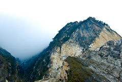 Fog and hill Royalty Free Stock Photography