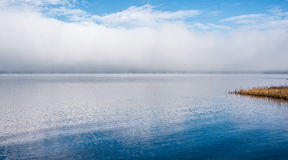 Fog on horizon, rising off the Ottawa River. Stock Photos