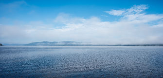 Scenic view of the Ottawa River and Laurentian Hills. Royalty Free Stock Image