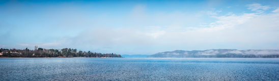 Scenic view of the Ottawa River and Laurentian Hills. Royalty Free Stock Images