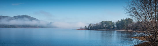 Scenic view of the Ottawa River and Laurentian Hills. Royalty Free Stock Photo