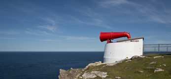 Fog horn at Cape Wrath. Scotland Royalty Free Stock Images