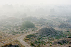 Fog in the Israel Royalty Free Stock Photos