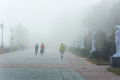 Fog in Kiev Stock Photos