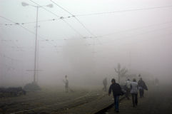 Fog in Kolkata Stock Photos