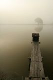 Fog on the lake Stock Images