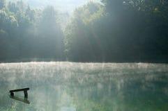 Fog on the lake Stock Photography