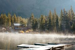 Fog on lake Royalty Free Stock Image