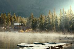 Fog on lake Royalty Free Stock Images