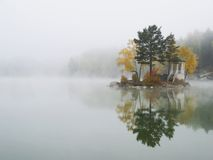 Fog on Lake. Fog on the lake early in the morning royalty free stock photos
