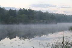 Fog on the lake Stock Image