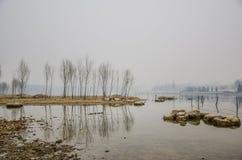 The fog Lake Stock Photo