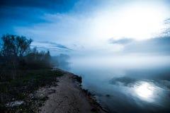 Lake Michigan in fog Stock Photo