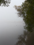 Fog on the lake morning Royalty Free Stock Photo
