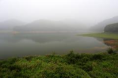 Fog lake Stock Images