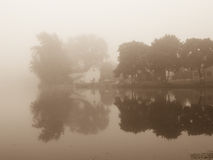 Fog on the Lake Royalty Free Stock Images