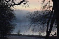 Fog at Lake Winnsboro. This image was taken at Lake Winnsboro in Texas right at sunrise Royalty Free Stock Images
