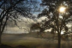 Fog at Lake Winnsboro. This image was taken at Lake Winnsboro in Texas right at sunrise Stock Photography