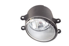 Fog lamp on a white Stock Image