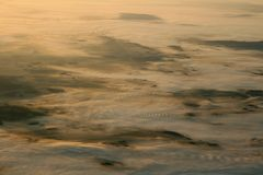 Fog on land Stock Image