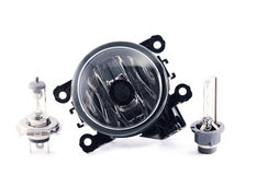 Fog light. xenon and halogen lamps. Stock Photo