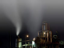 Fog machine. A photo taken in the industrial area, at night Stock Image
