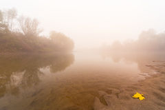 Fog and mist on a wild river Royalty Free Stock Image